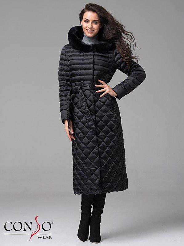 03fa9ac3c5a Женское пуховое пальто WLF 180501 nero - купить в интернет-магазине ...